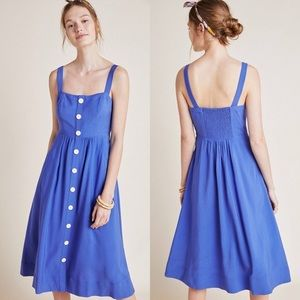 NWT ANTHROPOLOGIE MEAVE ROSEMARY MIDI DRESS 10